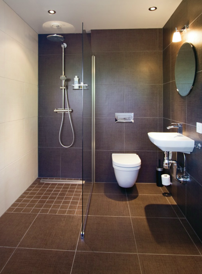 Stilfullt litet badrum