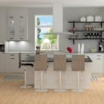 Kök och köksö sett från matdel