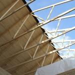 Takstolar med ett halvt tak