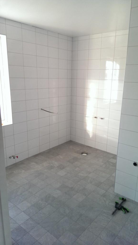 Stora badrummet, plats för badkar