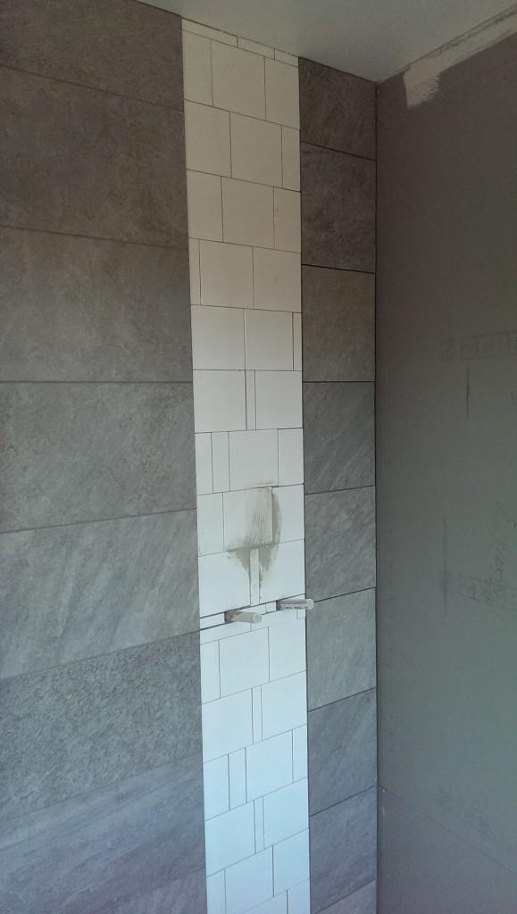 WC/D master bedroom, dusch. Utan mosaik än så länge